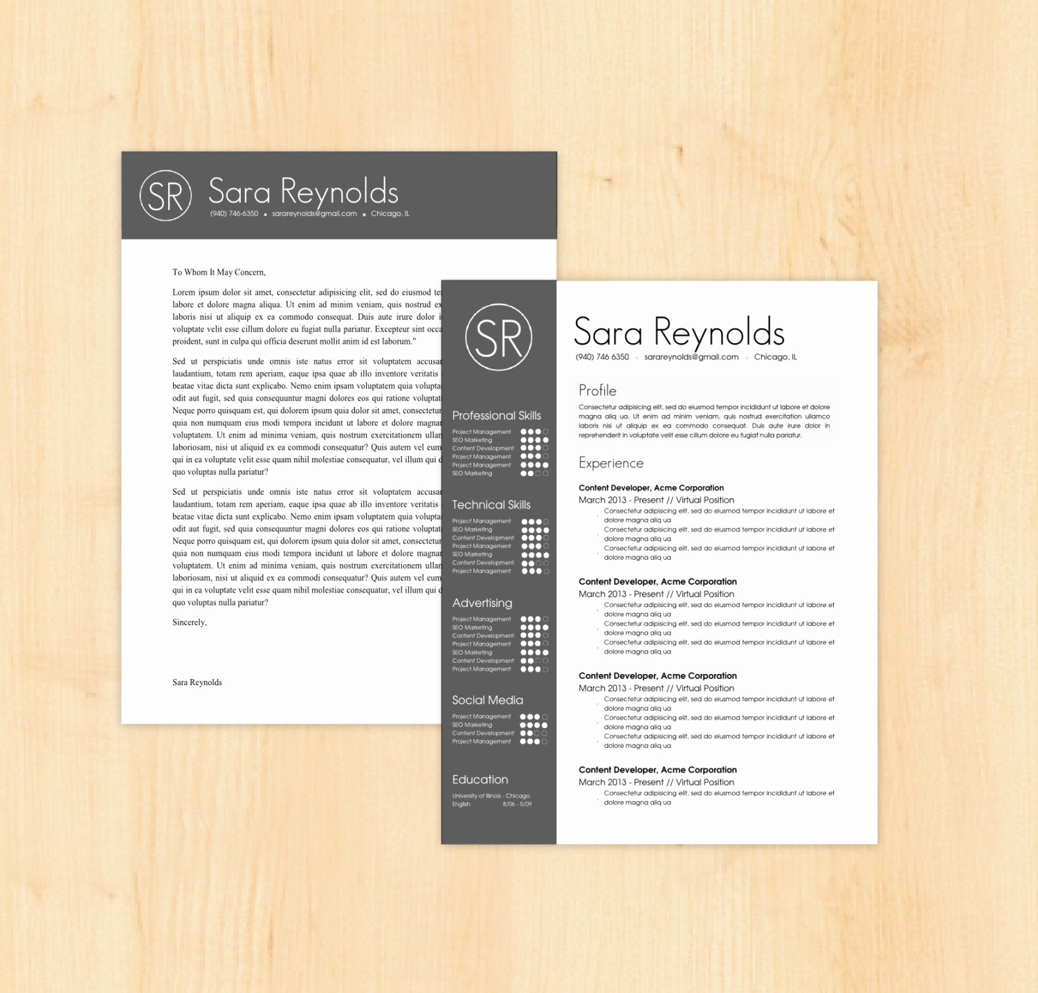 Resume Cover Letter Template Word Unique Resume Template Cover Letter Template the Sara by Phdpress