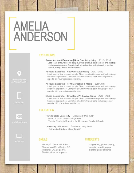 "Resume Cover Letter Template Word Unique Resume Template the ""sara"""