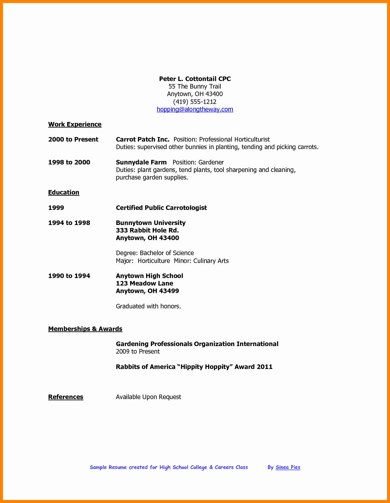 Resume Examples for Highschool Students Awesome 5 Cv Template for High School Student