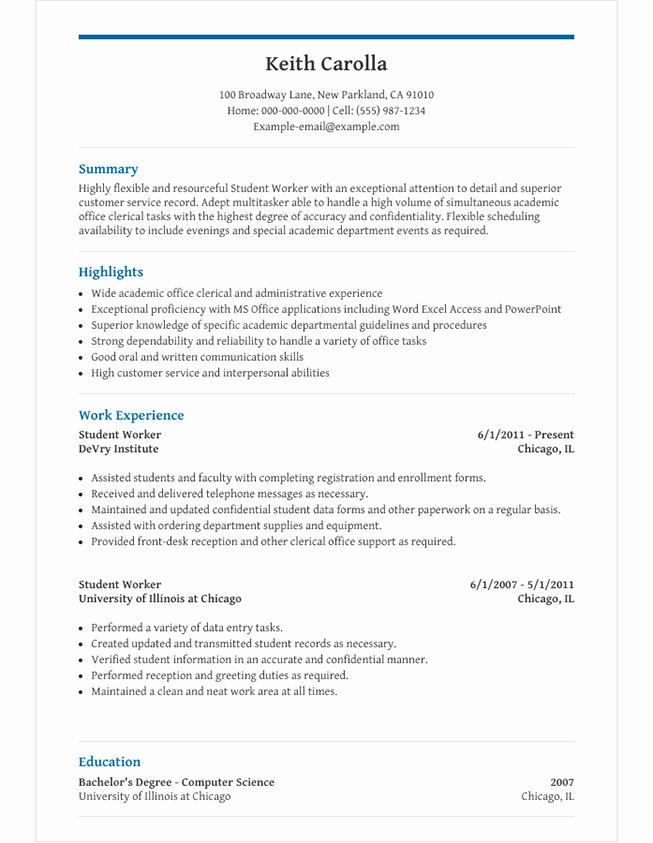 Resume High School Student Beautiful High School Student Resume Template for Microsoft Word