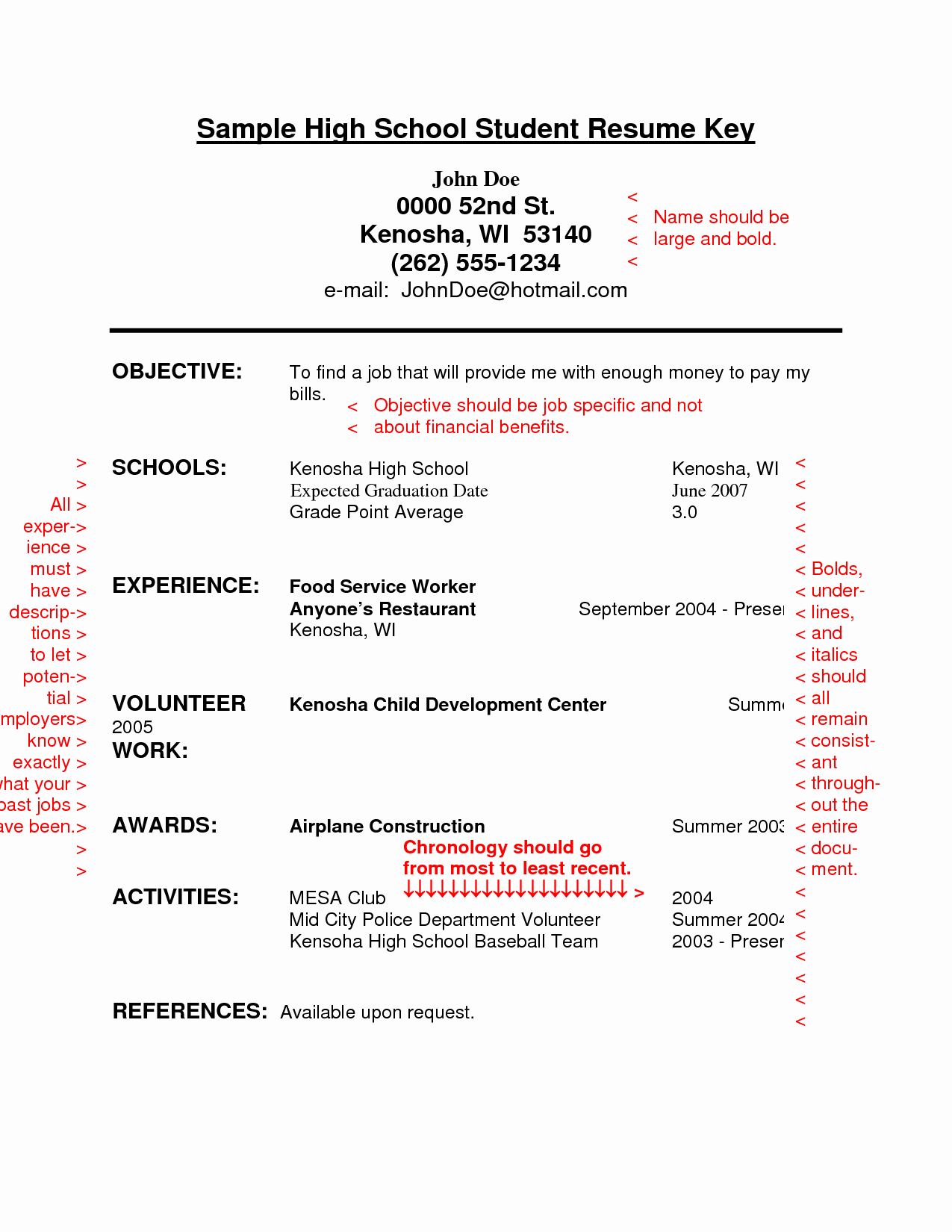 Resume High School Student Fresh Resume Sample for High School Students with No Experience