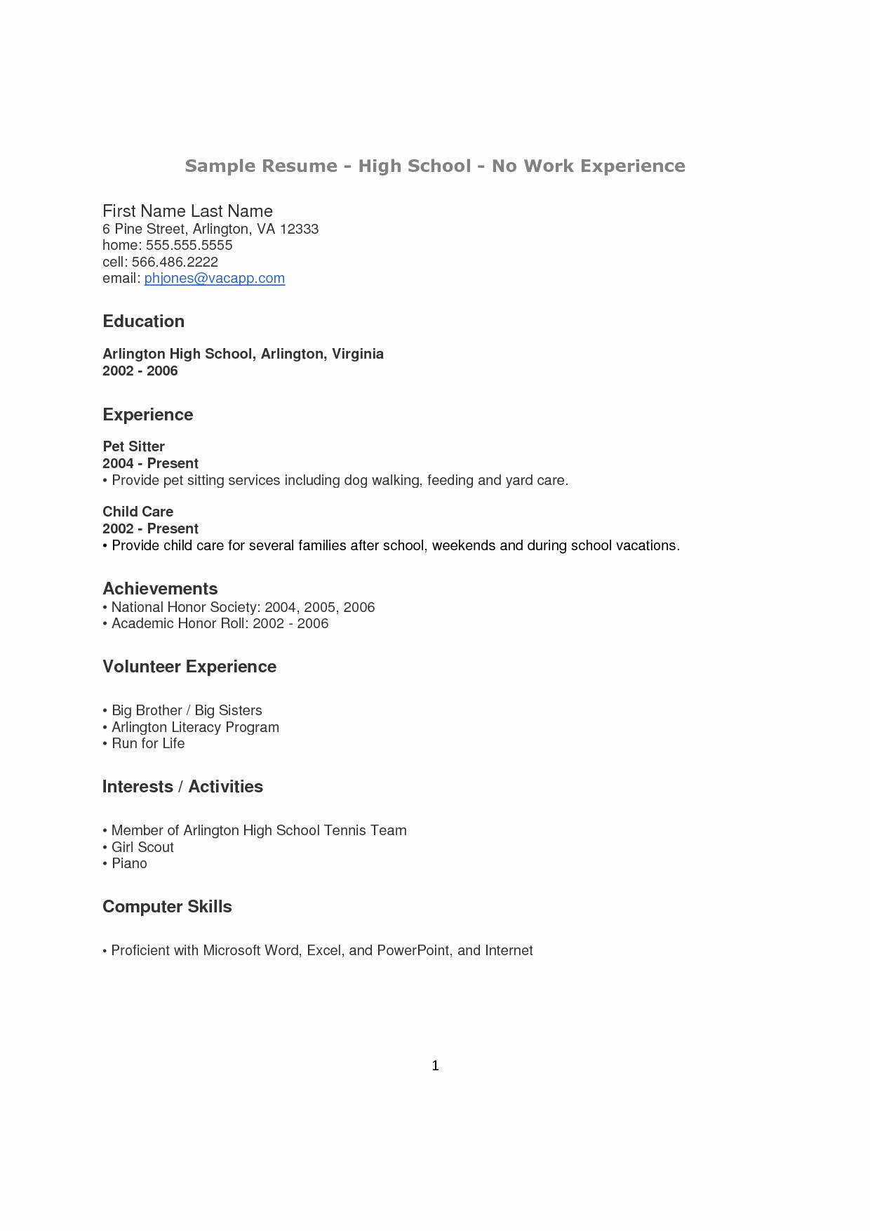Resume High School Student Inspirational How to Make A Resume for A Highschool Student with No