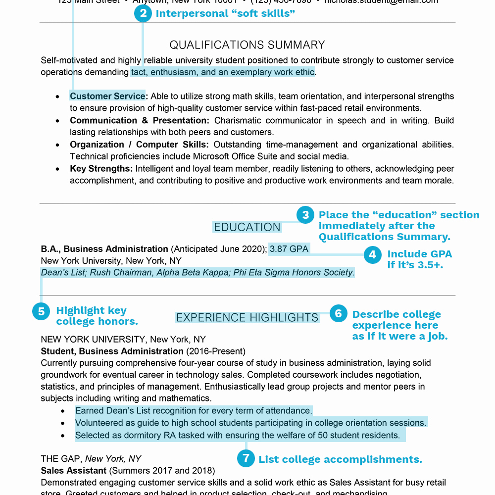 Resume Samples for College Student Awesome Student Resume Examples and Templates