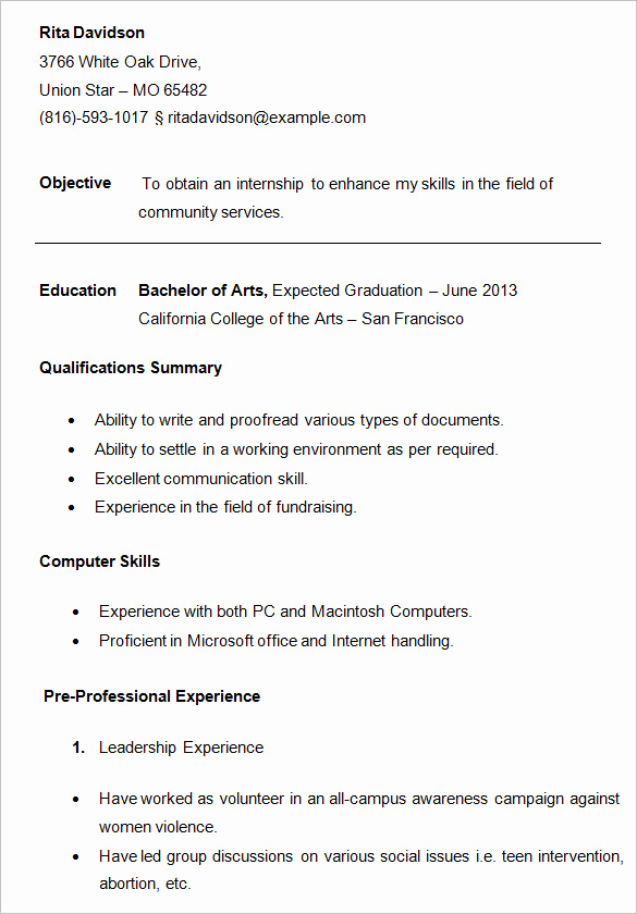 Resume Samples for College Student New 24 Best Student Sample Resume Templates Wisestep