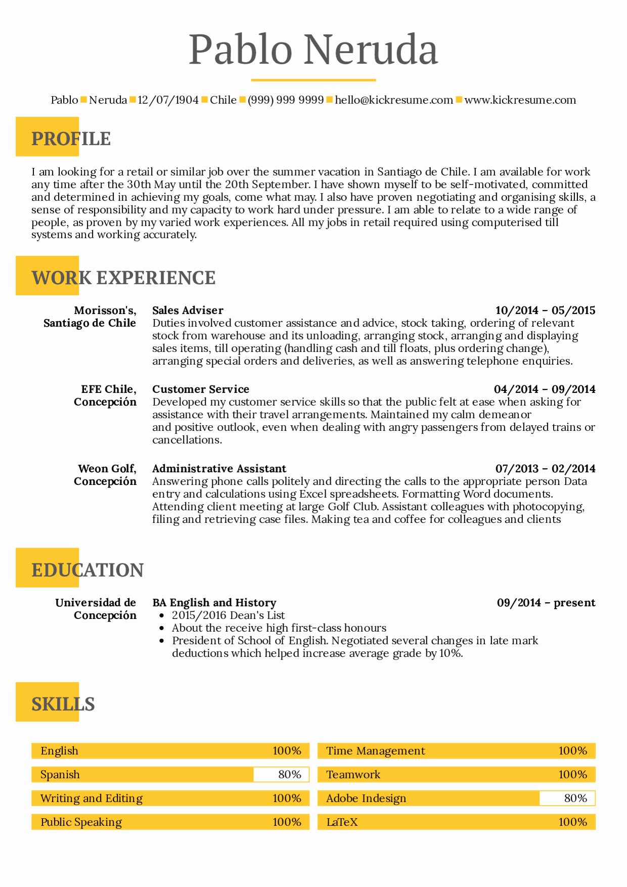 Resume Template College Student New Resume Examples by Real People Student Resume Summer Job