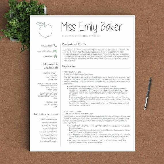 Resume Template for Teachers Unique Best 25 Teacher Resume Template Ideas On Pinterest