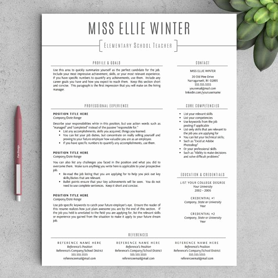 Resume Template for Teaching Best Of 25 Best Ideas About Teacher Resume Template On Pinterest