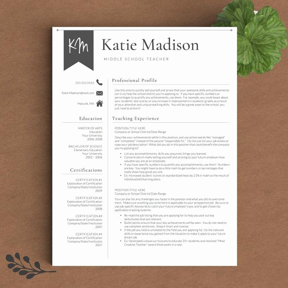 Resume Template for Teaching New Best 25 Teacher Resume Template Ideas On Pinterest