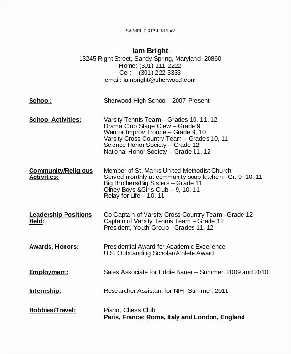Resume Template for Teens Awesome Resume Templates for Teens Apphacker