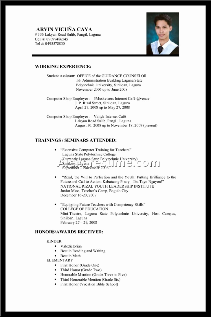 Resume Template for Teens Fresh Teen Resume No Experience Templates – Perfect Resume format
