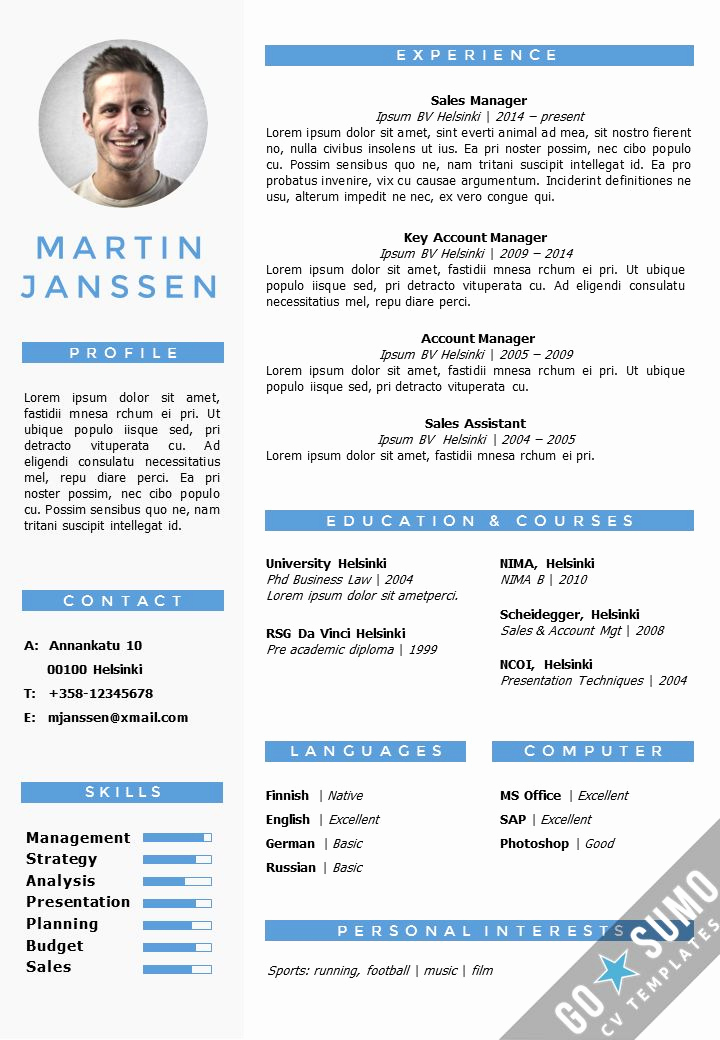 Resume Template with Photo Awesome Cv Resume Template In Word Fully Editable Files Incl 2nd