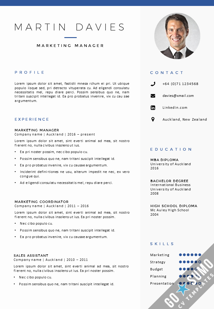 Resume Template with Photo Awesome where Can You Find A Cv Template