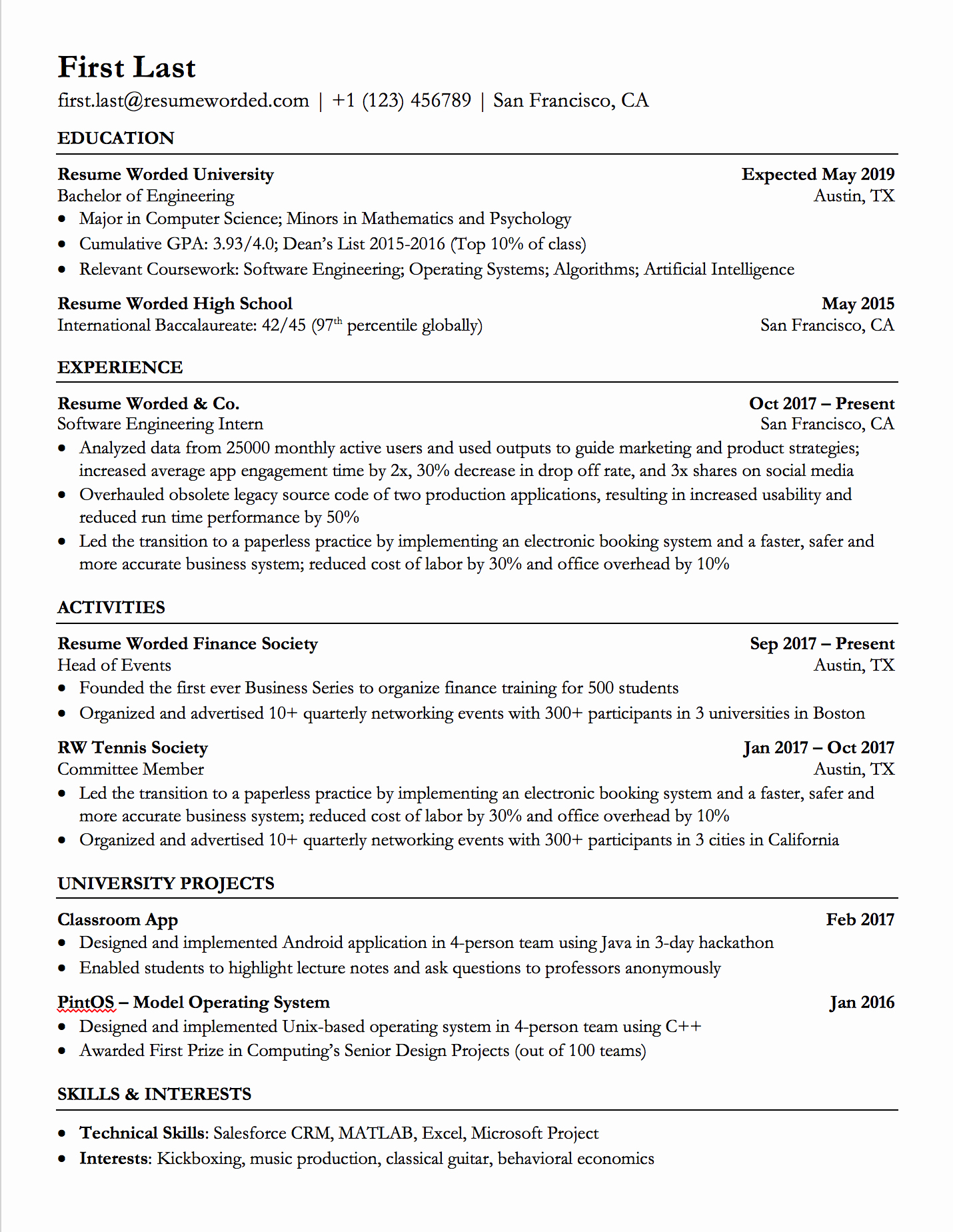 Resume Template with Photo Beautiful Professional ats Resume Templates for Experienced Hires