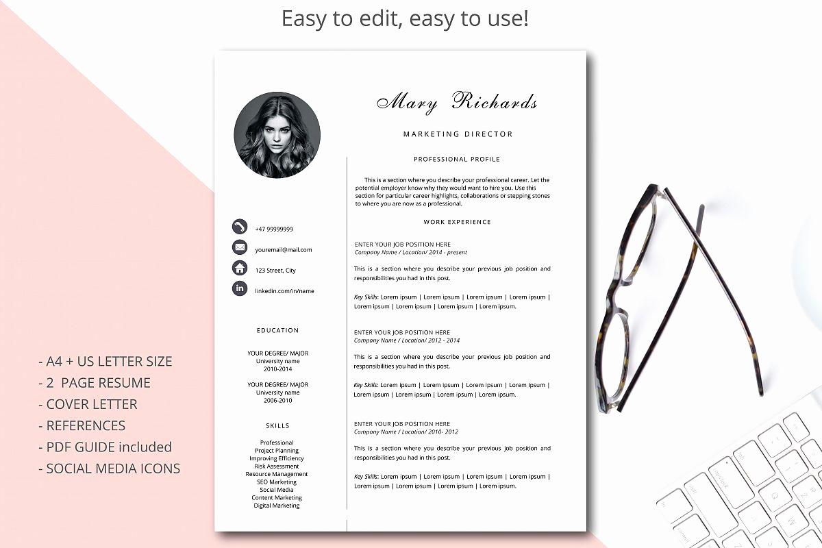 Resume Template with Photo Best Of Resume Template Cv Template Simple Style