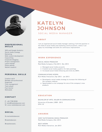 Resume Template with Photo Inspirational Corporate Resume Templates Canva