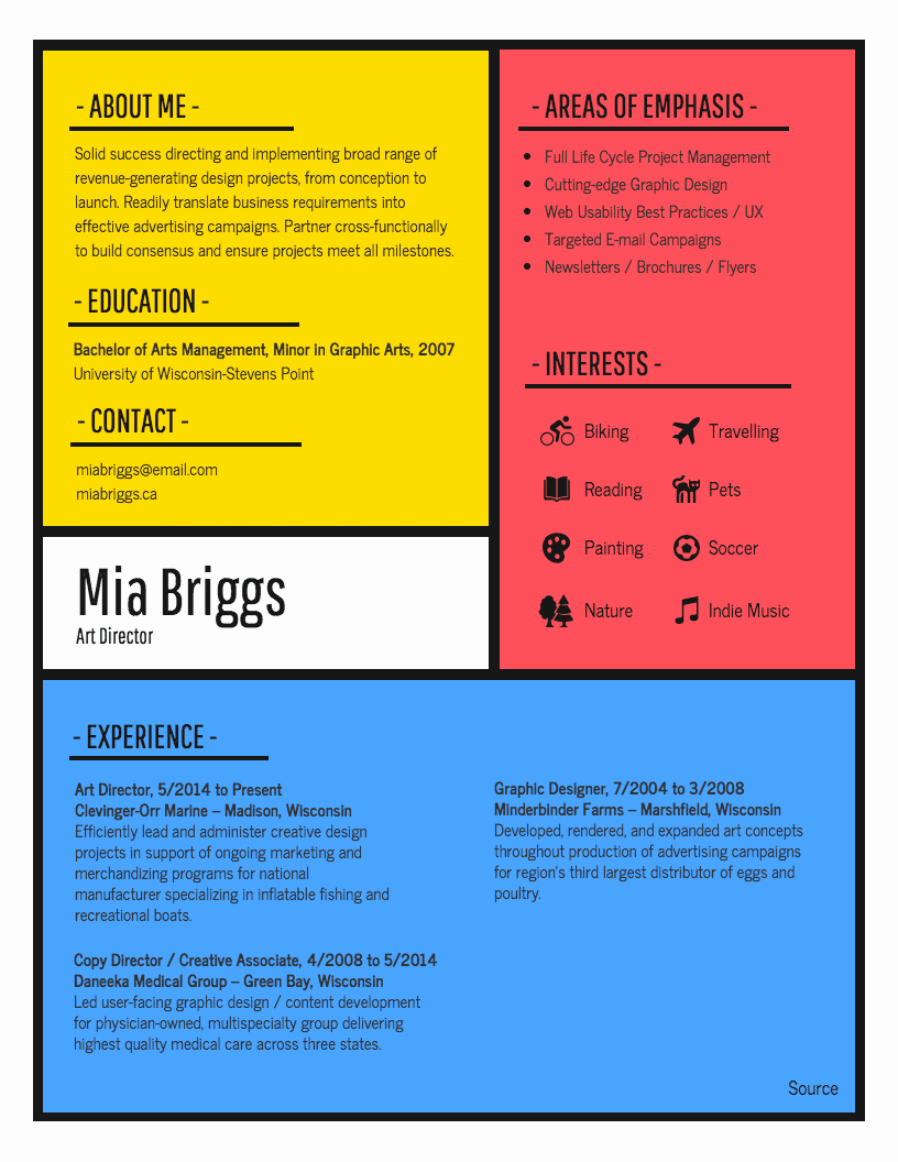 Resume Template with Photo Inspirational Infographic Resume Template Venngage
