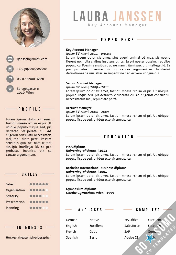 Resume Template with Photo Lovely where Can You Find A Cv Template