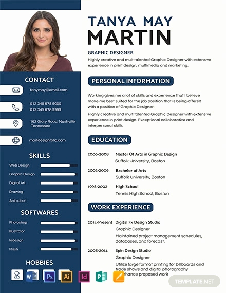 Resume Template with Photo Luxury Free Professional Resume and Cv Template Download 854