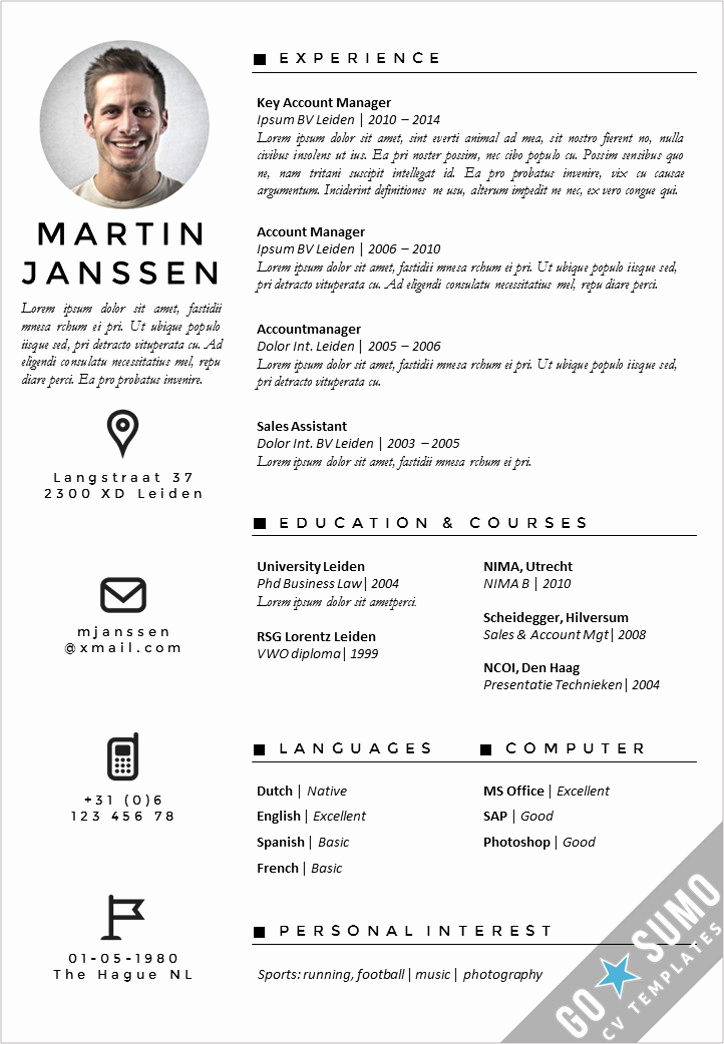 Resume Template with Photo Luxury where Can You Find A Cv Template