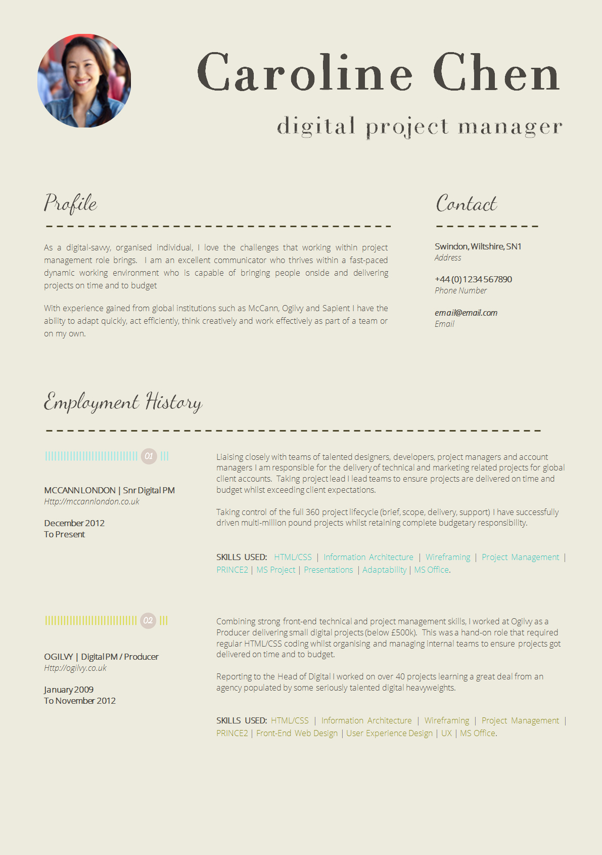 Resume Template with Photo Unique 13 Slick and Highly Professional Cv Templates
