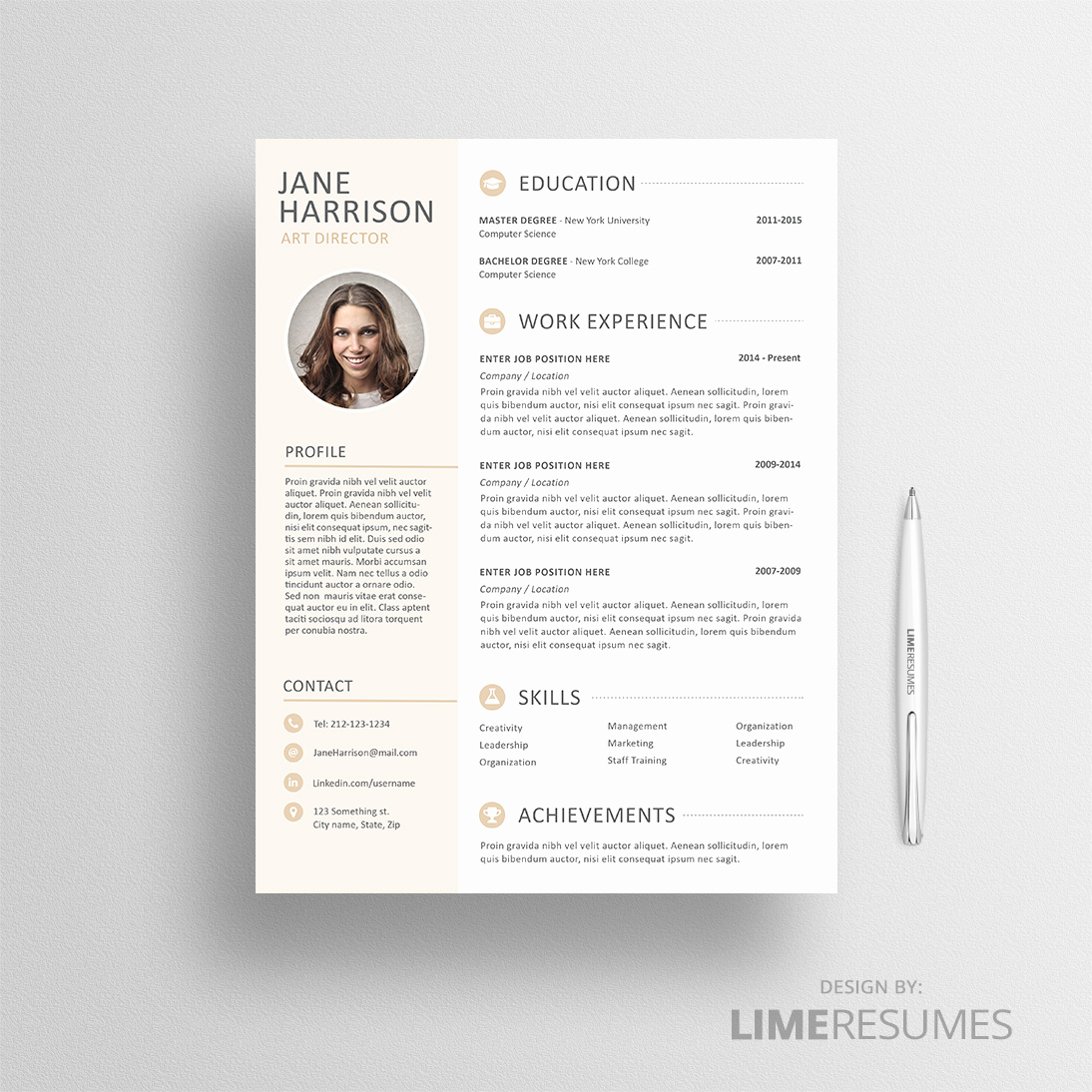 Resume Template with Photo Unique Resume with Cv Template with Limeresumes