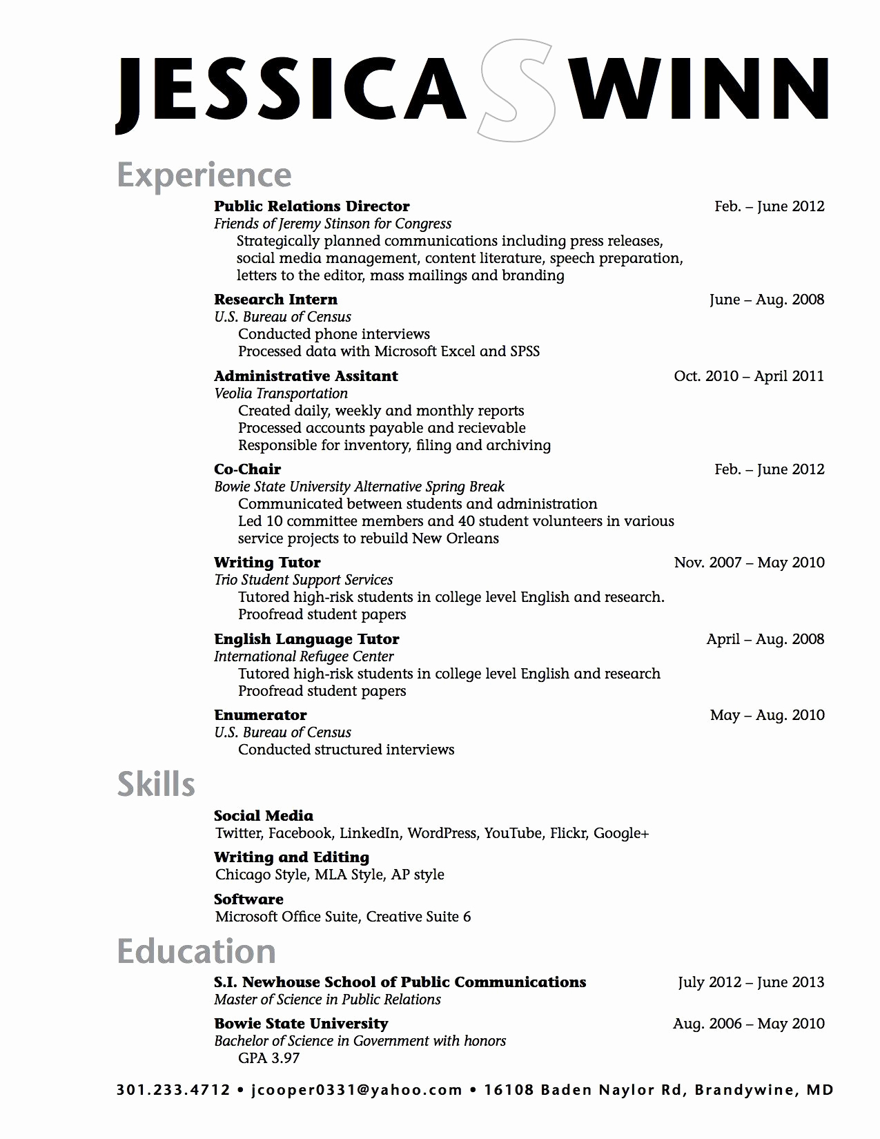 Resume Templates for College Students Elegant Sample High School Student Resume Example
