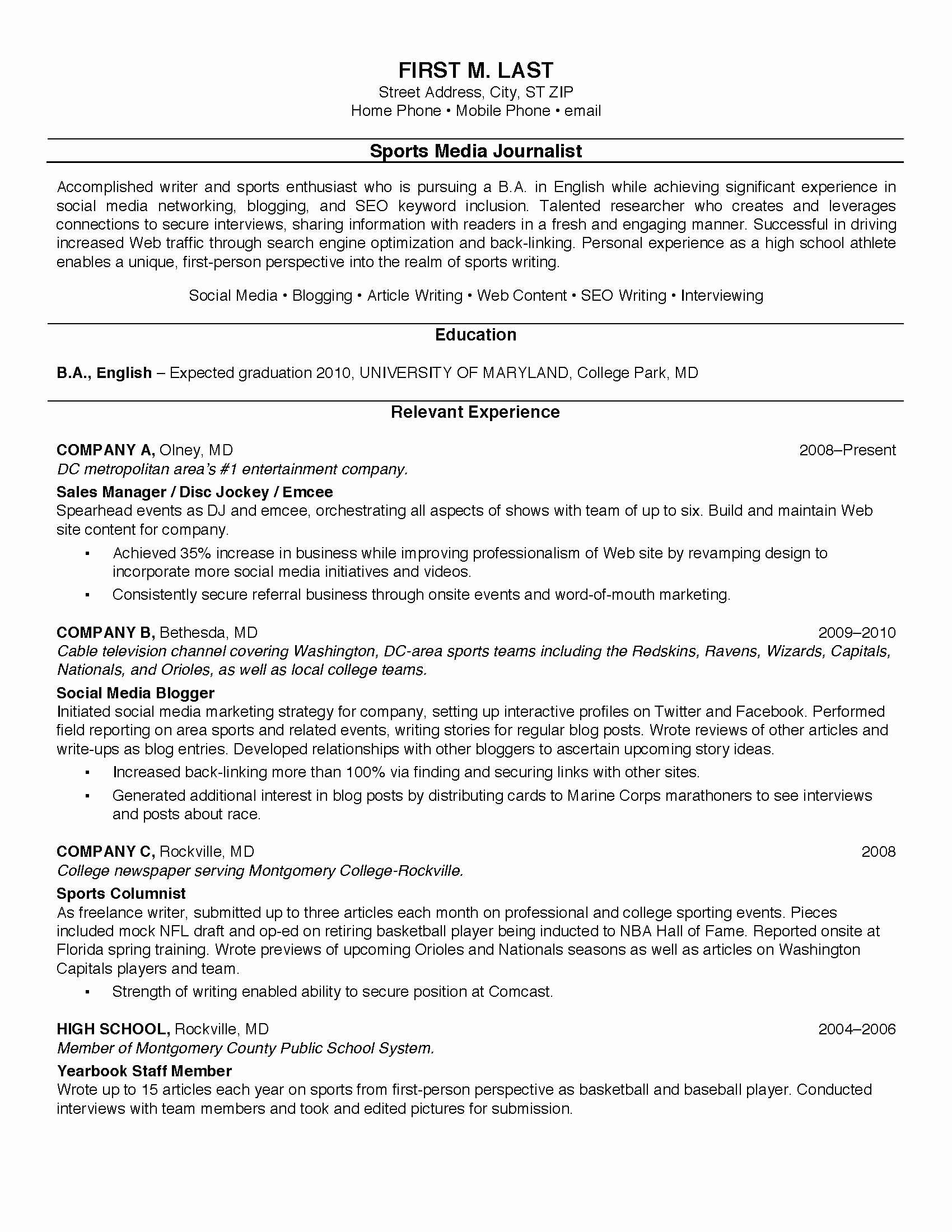 Resume Templates for College Students Luxury Pin by Jobresume On Resume Career Termplate Free