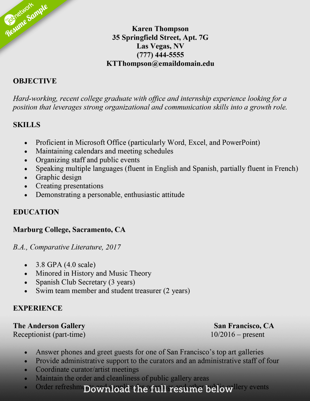 Resume Templates for College Students Unique How to Write A College Student Resume with Examples