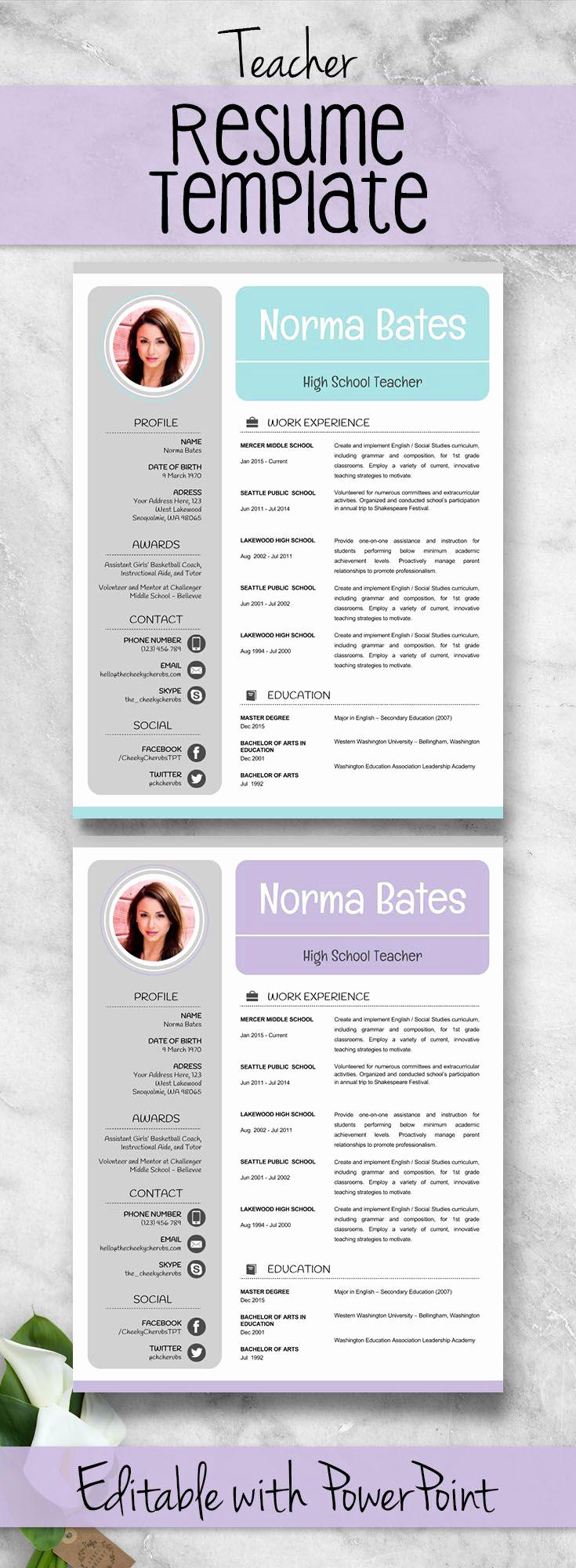 Resume Templates for Teachers Beautiful Best 25 Teacher Resume Template Ideas On Pinterest