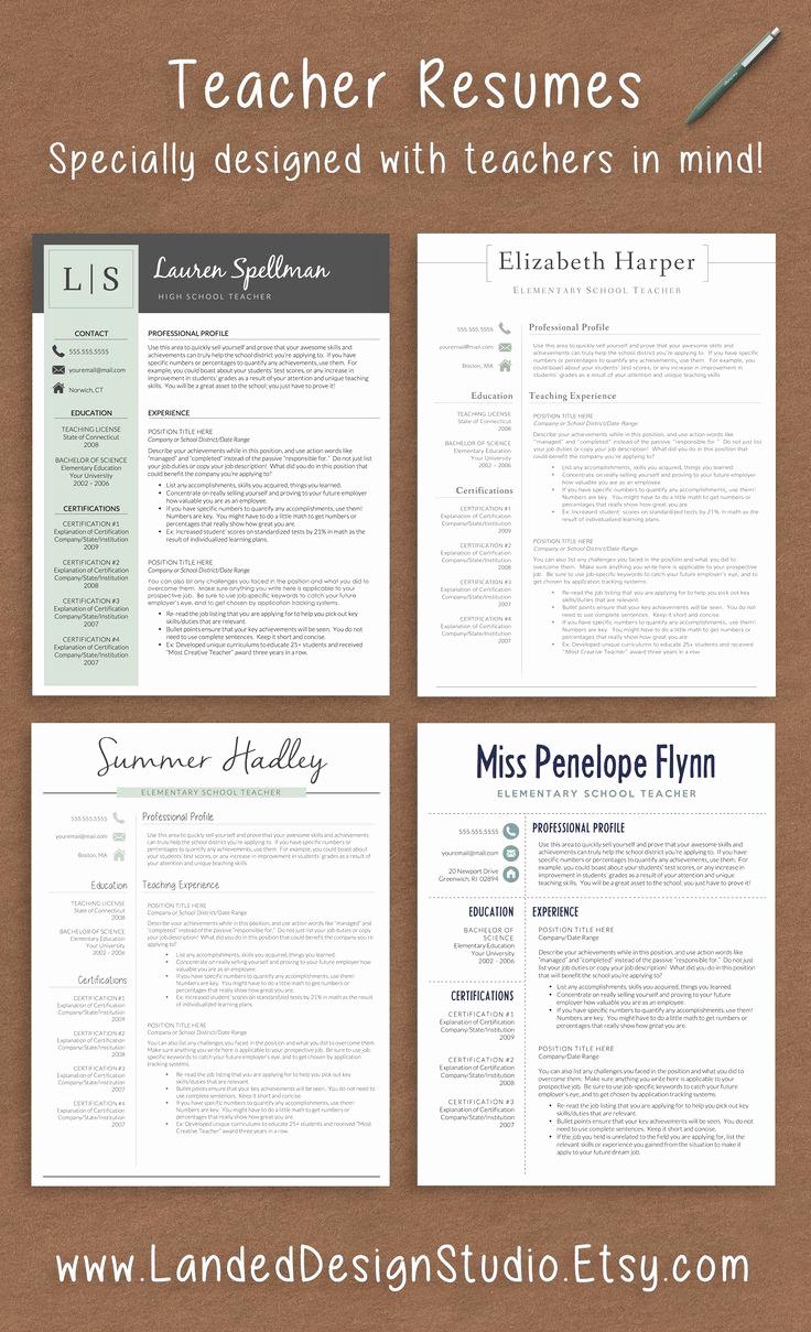 Resume Templates for Teachers Fresh Best 25 Teacher Resumes Ideas On Pinterest