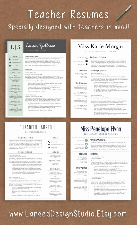 Resume Templates for Teachers Inspirational Professionally Designed Resumes with Teachers In Mind