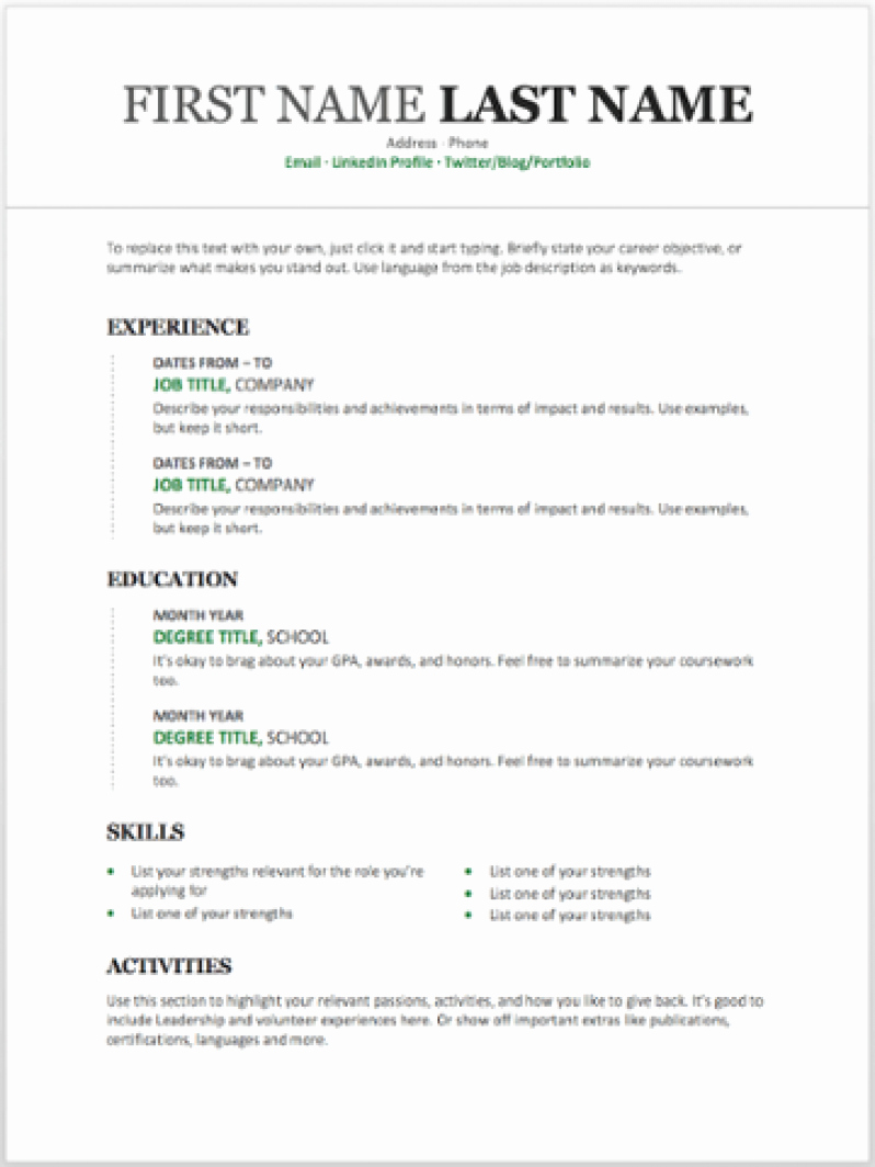 Resume Templates Free Word Awesome 11 Free Resume Templates You Can Customize In Microsoft