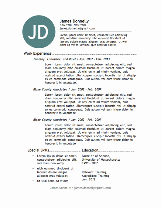 Resume Templates Free Word Inspirational 12 Resume Templates for Microsoft Word Free Download