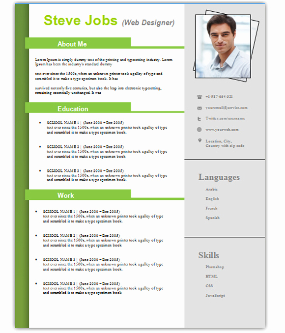 Resume Templates Free Word Inspirational 3 Free Download Resume Cv Templates for Microsoft Word