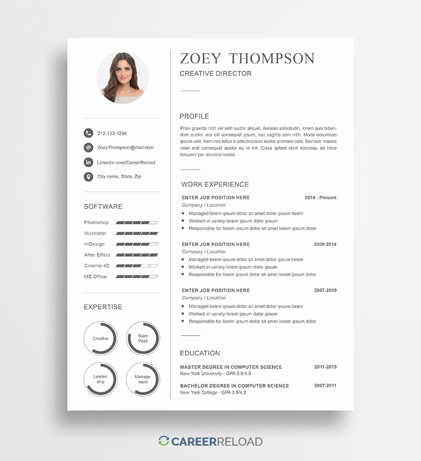 Resume Templates Free Word Lovely Download Free Resume Templates Free Resources for Job