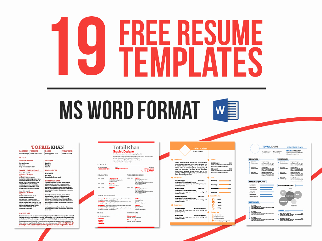 Resume Templates Free Word Luxury 19 Free Resume Templates Download now In Ms Word On Behance