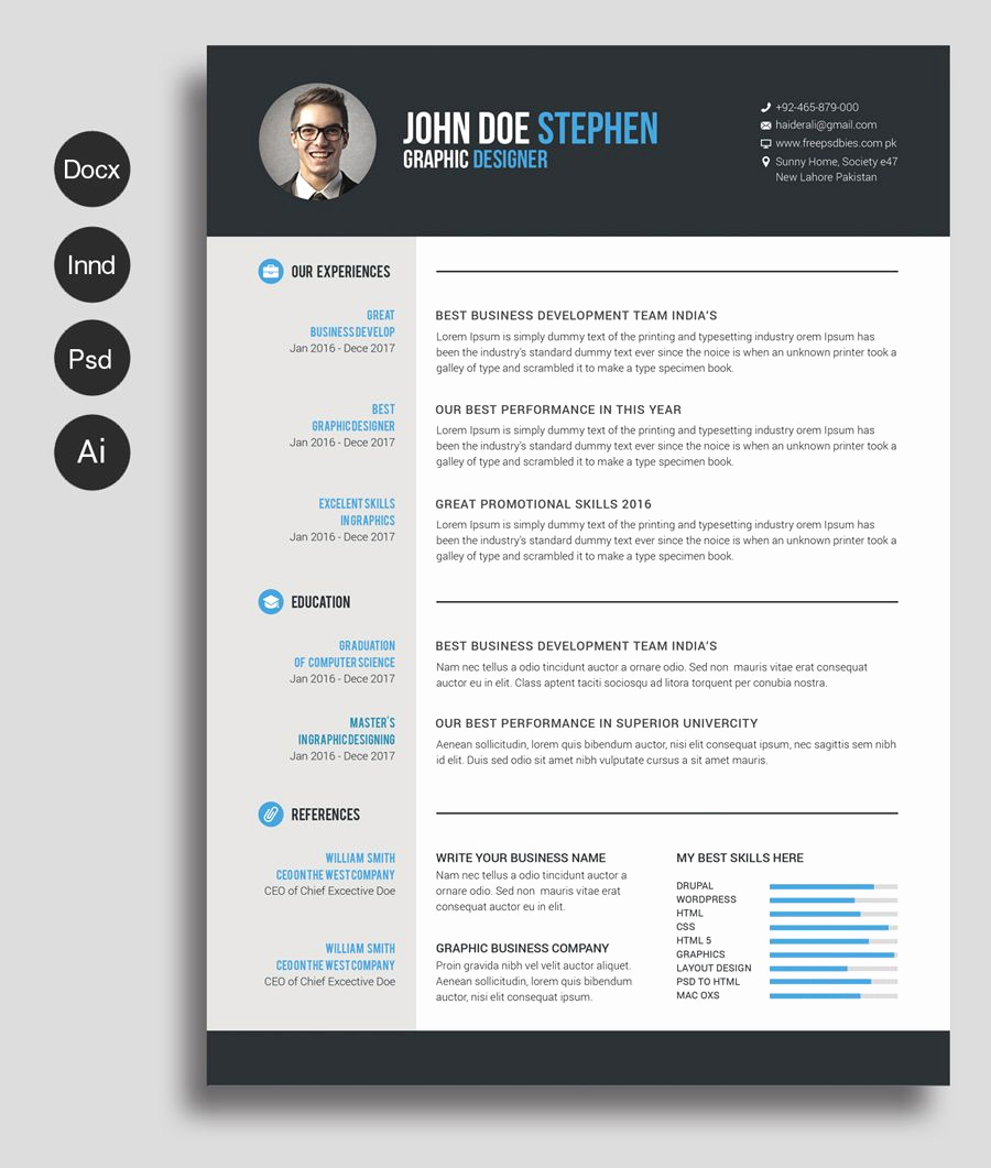 Resume Templates Free Word Unique Free Ms Word Resume and Cv Template