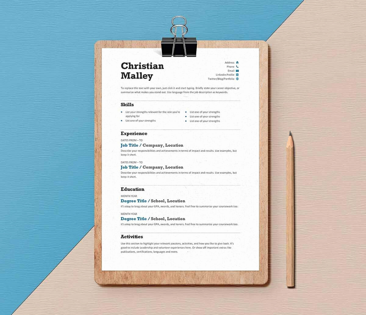 Resume Templates Free Word Unique Resume Templates for Word Free 15 Examples for Download