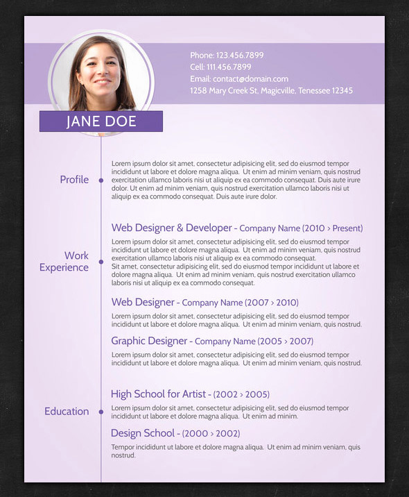 Resume with Picture Template Beautiful Varieties Resume Templates and Samples