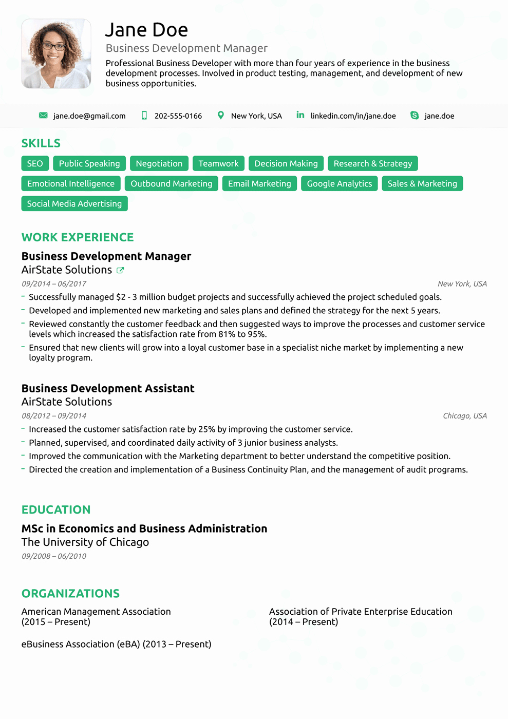 Resume with Picture Template Inspirational 2018 Professional Resume Templates as they Should Be [8 ]