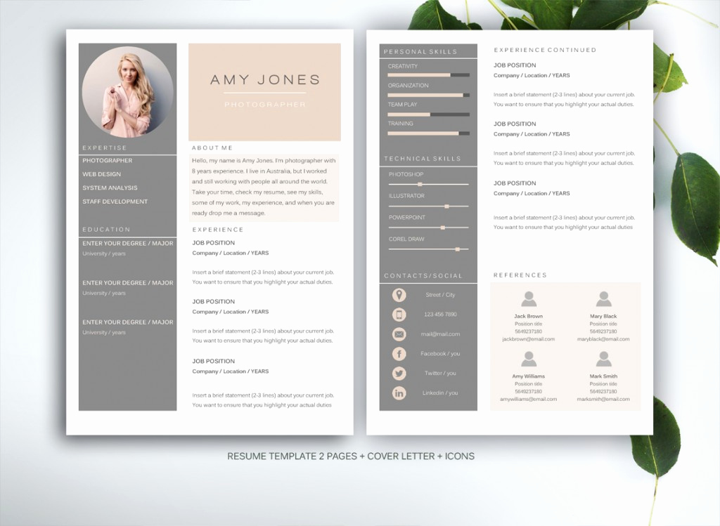 Resume with Picture Template Lovely 10 Resume Templates to Help You A New Job Premiumcoding