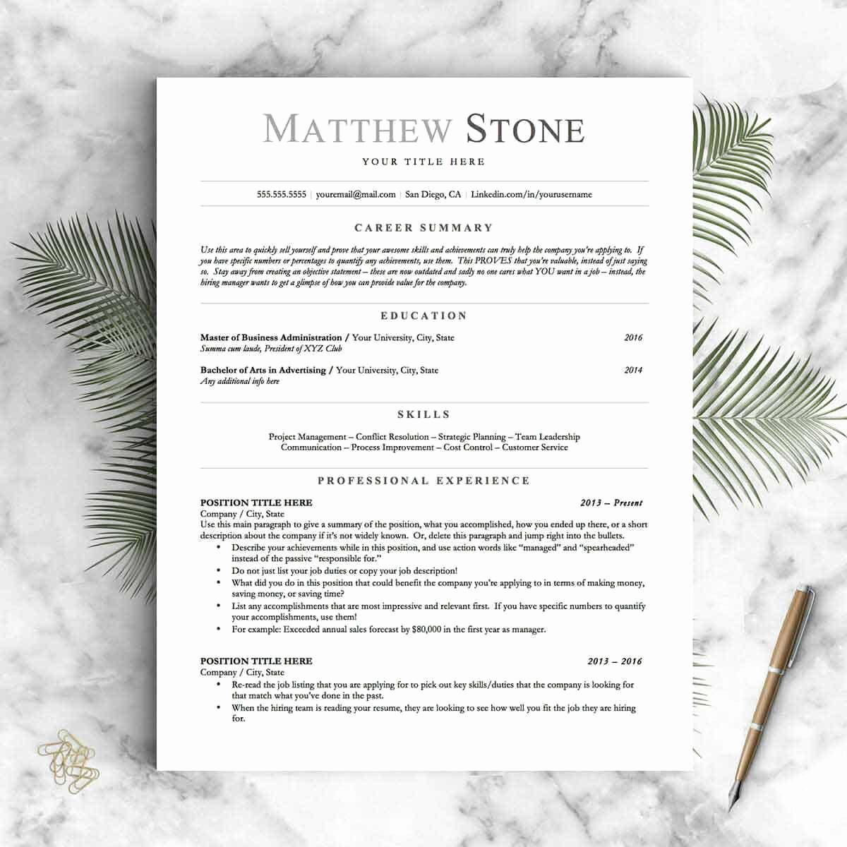 Resume with Picture Template New Basic Resume Templates 15 Examples to Download & Use now