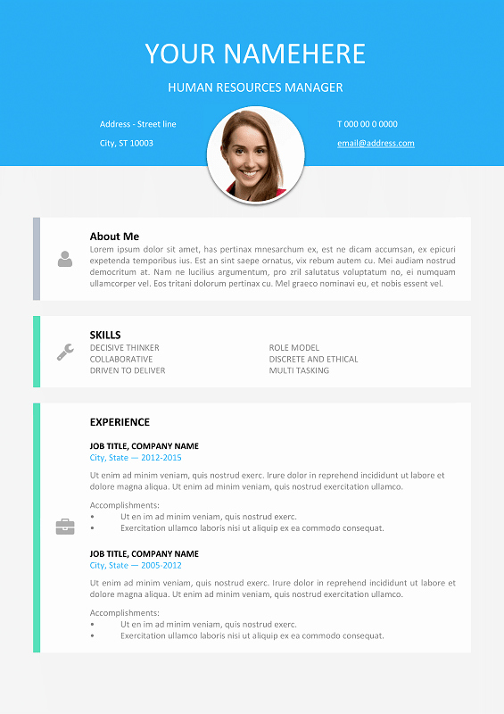 Resume with Picture Template New Le Marais Free Modern Resume Template