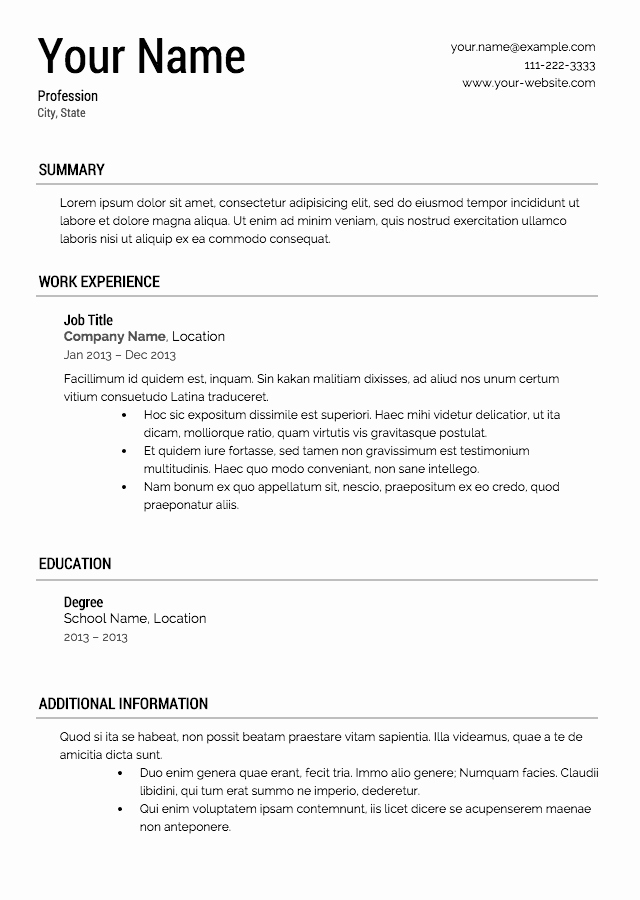 Resume with Picture Template Unique Free Resume Templates