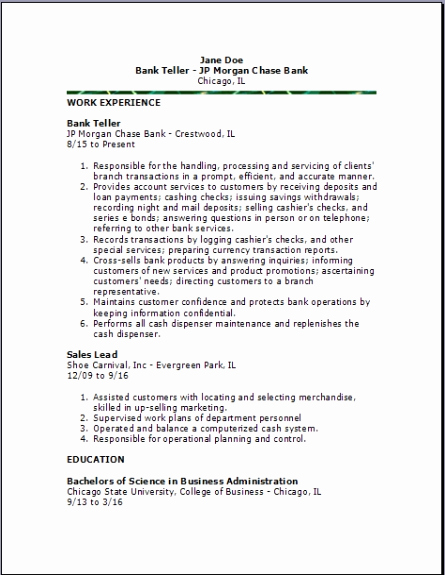 Resumes for Bank Teller Beautiful Bank Teller Resume Examples Samples Free Edit with Word
