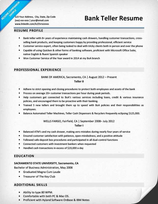 Resumes for Bank Teller Lovely Bank Teller Resume Sample & Writing Tips