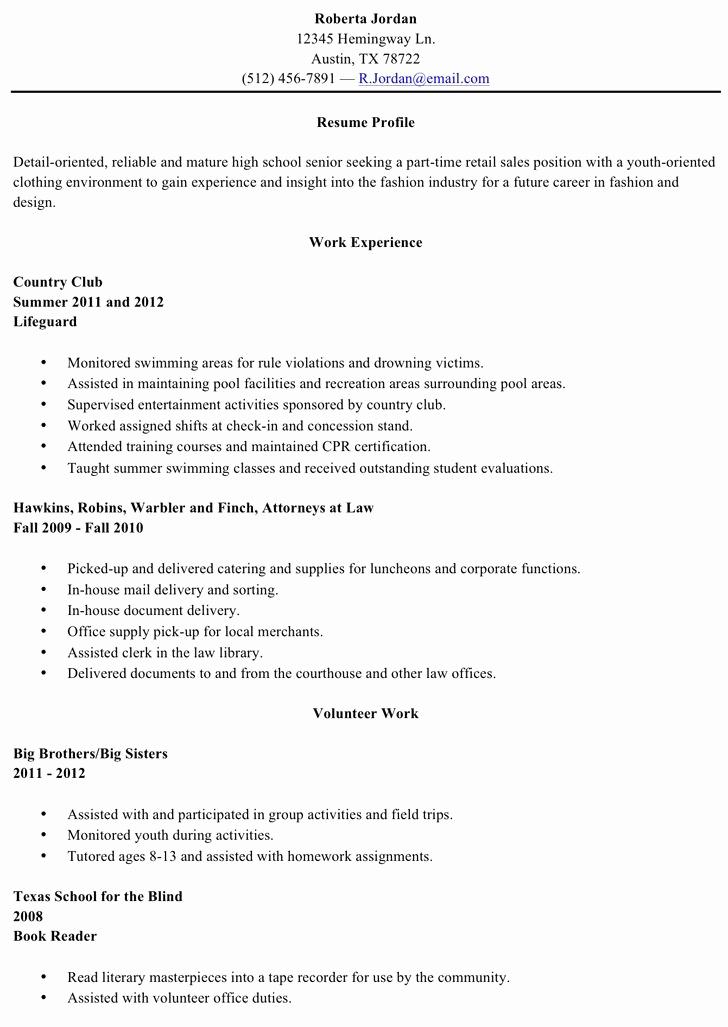 Resumes for High School Graduate Beautiful 9 Example Of Applicant Resume High School Graduate