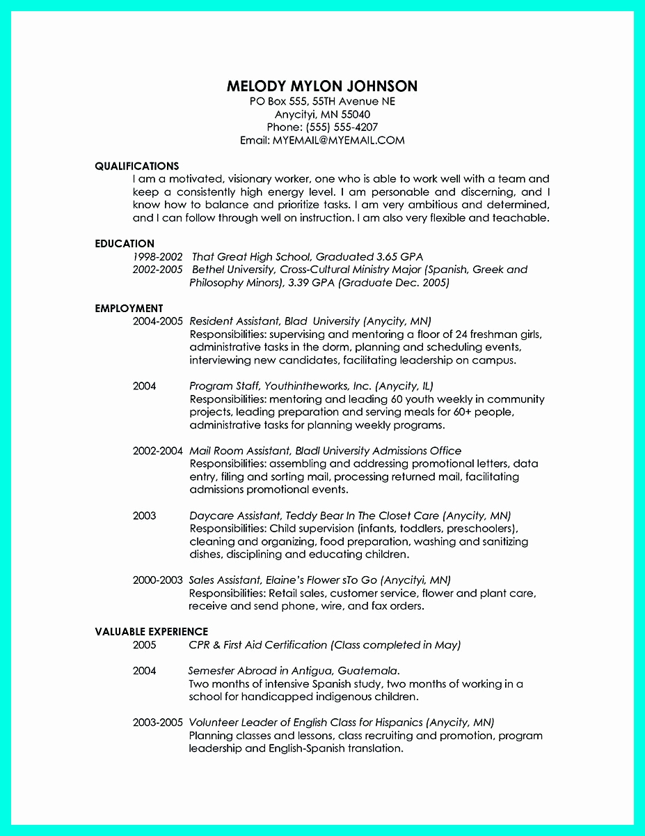 Resumes for High School Graduate Elegant Cool Sample Of College Graduate Resume with No Experience