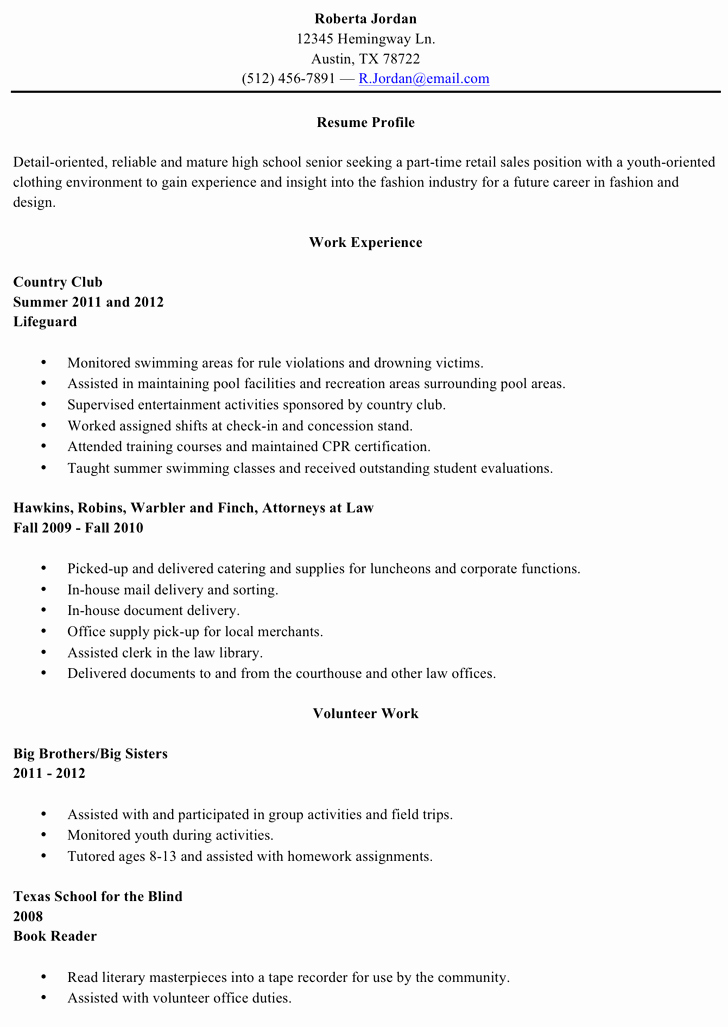 Resumes for High School Graduate Lovely Download High School Resume Template for Free Tidytemplates