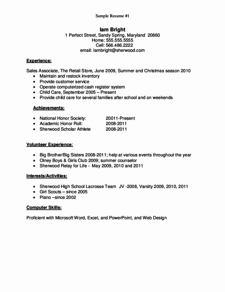 Resumes for High School Graduate New Basic High School Resume